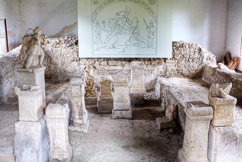 Prvi mitrej Hajdina notranjost