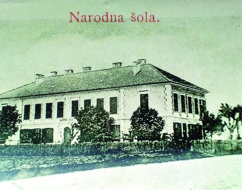 OŠ Hajdina na razglednici 1904